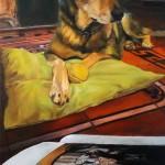 Gatekeeper oil on canvas 100x50 cm
