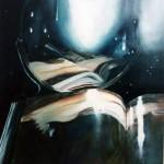 Venus at her mirror oil on canvas 40x40 cm