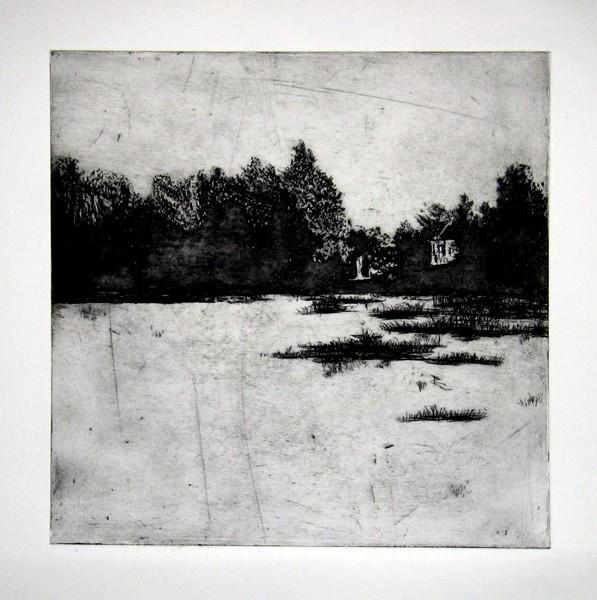 Polish Landscape, 35x35.etching -58c1e389bc