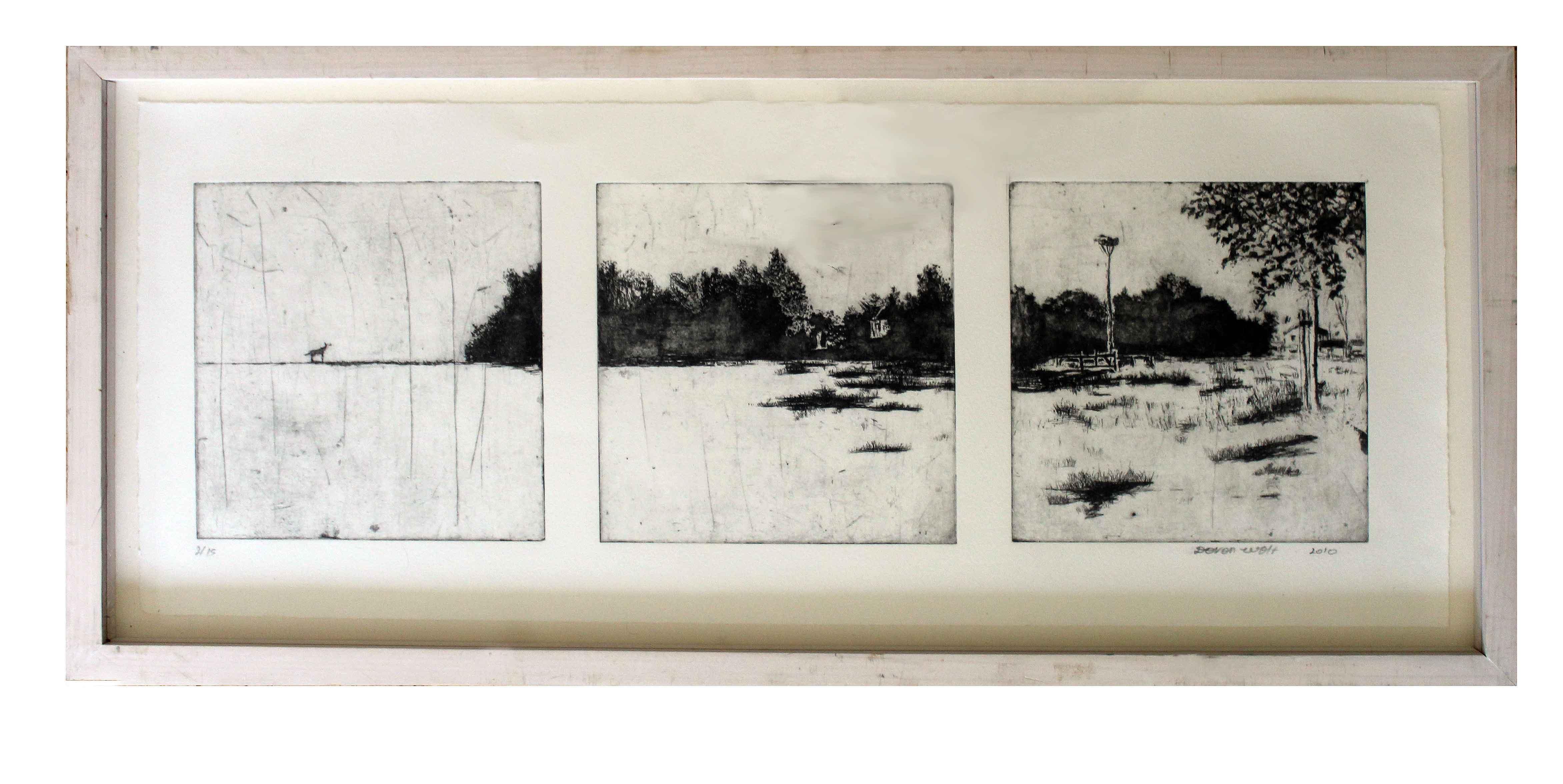 Polish landscape triptych Image