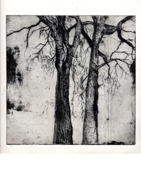 Fall,35x35cm'.etching l-c40dc44129