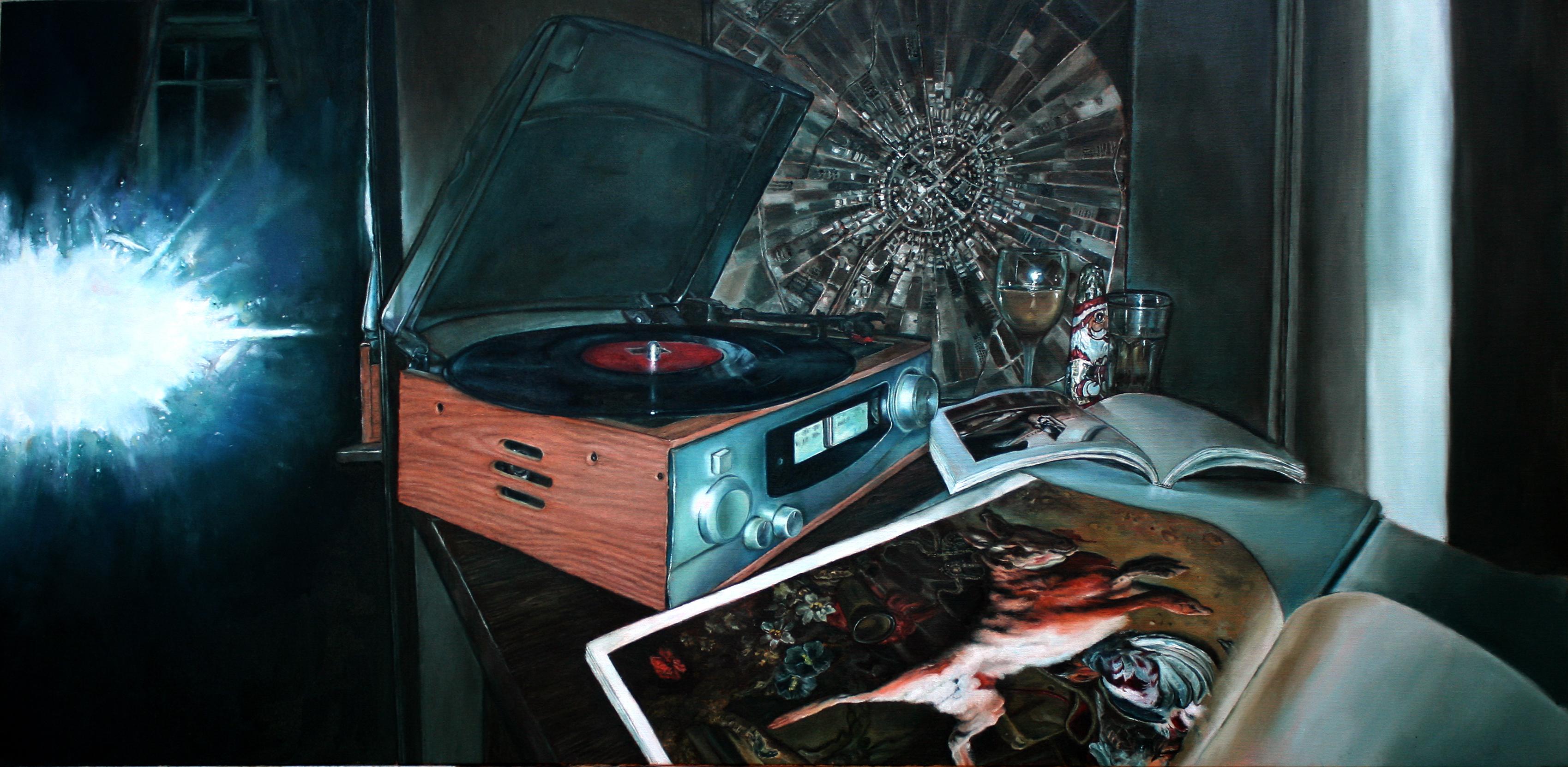 vanitas oil on canvas 120x55 cm