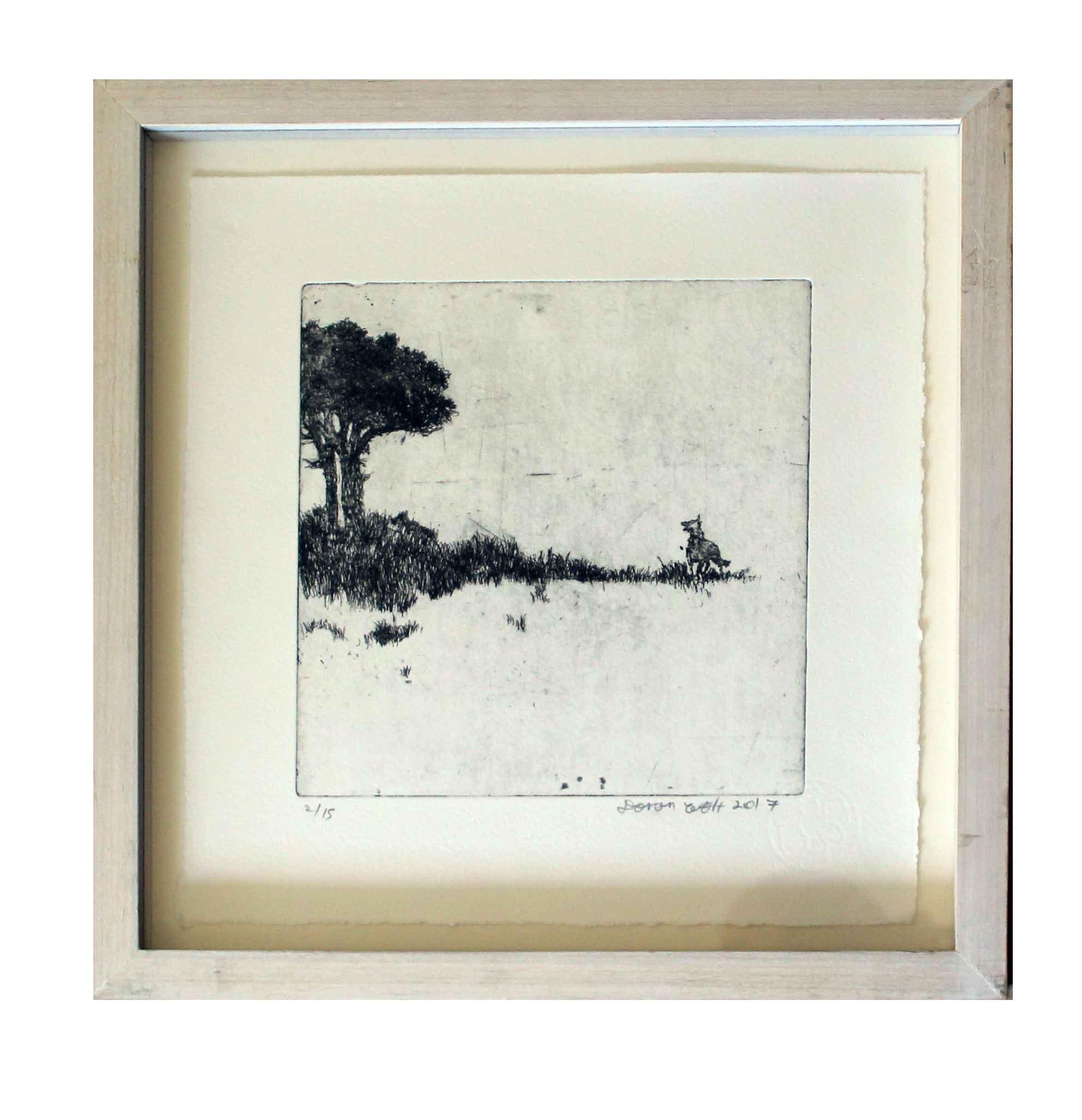 Landscape with a dog Image